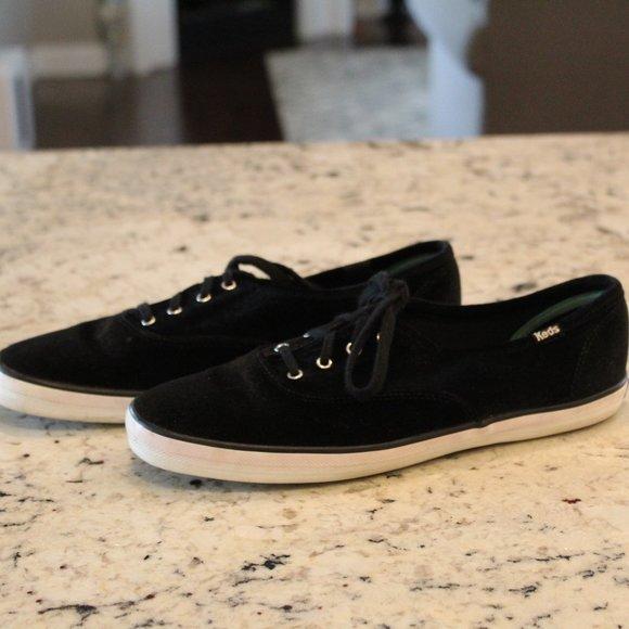 Keds Champion Black Velvet Sneakers Shoes 9